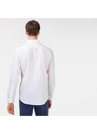 Lacoste Erkek Slim Fit Gömlek CH0101.01B Beyaz